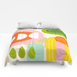 Rise and Shine - Retro Mod Abstract Design Comforters