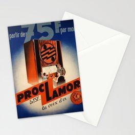 retro vintage a partir de  f par mois proclamor en tsf la voix dor poster Stationery Cards