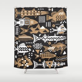 Boho Fishes II. Shower Curtain