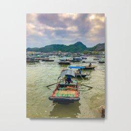 Cat Ba Island Floating Village in Vietnam Metal Print
