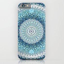 Teal Tapestry Mandala iPhone Case