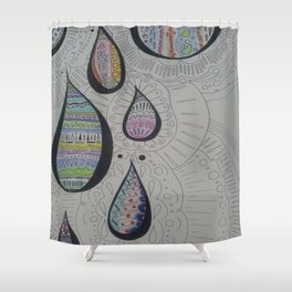 Paisley Tears Shower Curtain