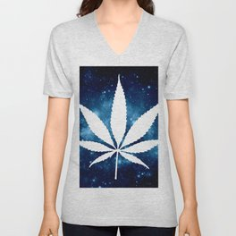 Weed : High Times Blue Galaxy Unisex V-Neck