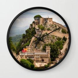 Castles of Xativa, Spain Wall Clock