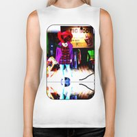 shopping Biker Tanks featuring Window Shopping by Khana's Web