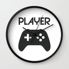 Player Text and Gamepad Wall Clock