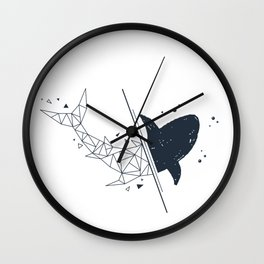 Shark. Geometric style Wall Clock