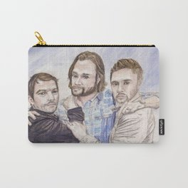 Team Free Will: Misha Collins; Jared Padalecki and Jensen Ackles, watercolor painting Carry-All Pouch