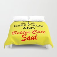 lawyer Duvet Covers featuring Better Call Saul by DeBUM