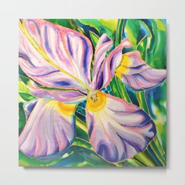 White Iris of Belize Metal Print