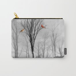 Red birds Cardinals Tree Fog A112 Carry-All Pouch