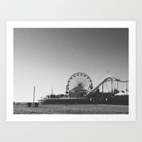 Moments at the Pier Art Print