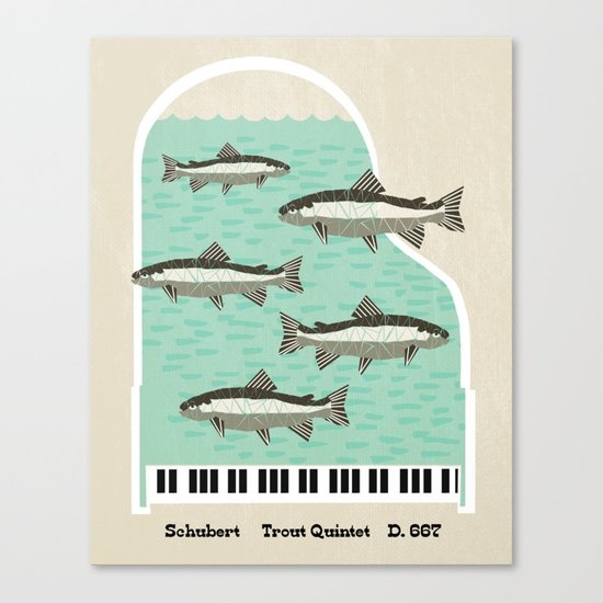 Schubert - Trout Quintet, D. 667 Canvas Print