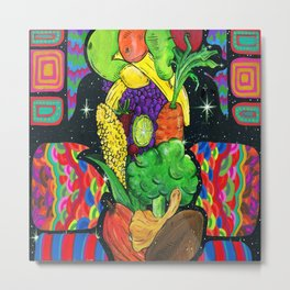 Eat Your Fruits and Veggies Metal Print