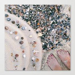 Beachy Feet Canvas Print