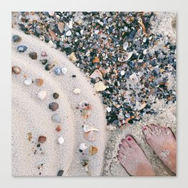 Beachy Feet Canvas Print