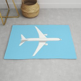 767 Passenger Jet Aircraft - Sky Rug