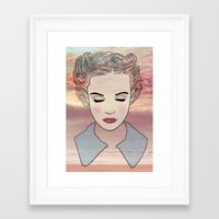 dreamer Framed Art Prints featuring DREAMER by Laure.B
