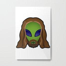 Alien 3:16 Metal Print