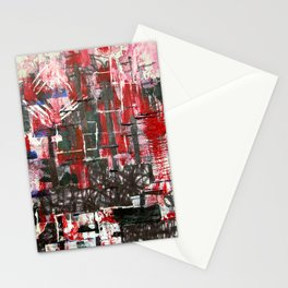 Red Cityscape Stationery Cards
