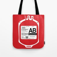 My Blood Type is AB, for Absolute Bomb! Tote Bag