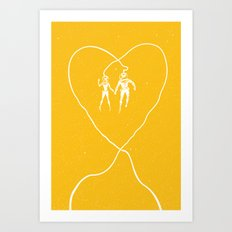 Love Space, Yellow Art Print