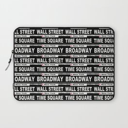 Street Sign Scenes of New York Laptop Sleeve
