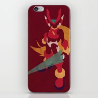 megaman iPhone & iPod Skins featuring Megaman Zero by JHTY