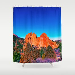 Bright Mountains of Colorado Shower Curtain