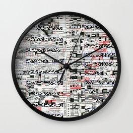 Pack Mule (P/D3 Glitch Collage Studies) Wall Clock