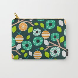 Oranges and flowers Carry-All Pouch