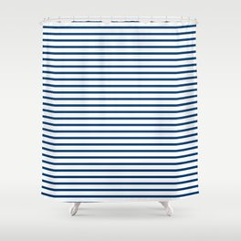 Sailor Stripes Navy & White Shower Curtain