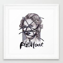 Rebel Heart by nickdrawart Framed Art Print