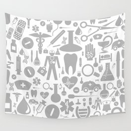 Medical background Wall Tapestry