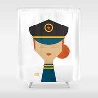 pilot Shower Curtains featuring Pilot by Page 84 Design
