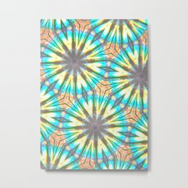 Twelve-Pointed Diagonal Stars Metal Print