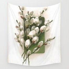 Vintage Pussy Willow Wall Tapestry