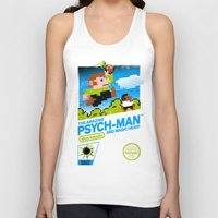 psych Tank Tops featuring The Amazing Psych-Man and Magic Head! by girardin27