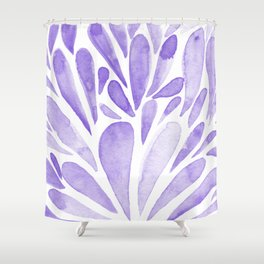 Watercolor artistic drops - lilac Shower Curtain