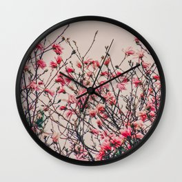 Retro Magnolia Wall Clock