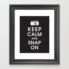 Keep Calm and Snap On Framed Art Print