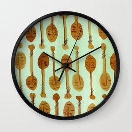 Island Print - Oars Wall Clock