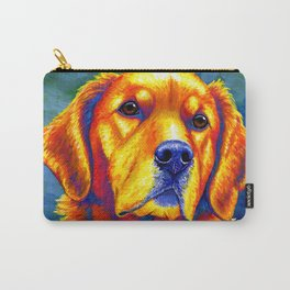 Colorful Golden Retriever Dog Portrait Carry-All Pouch