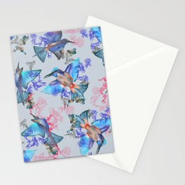 bee eaters pattern Stationery Cards