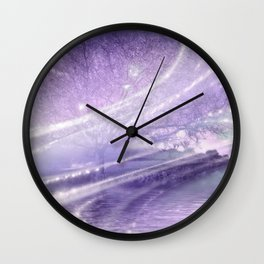 Tree at Imbolc Night Wall Clock