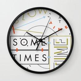 Haikuglyphics - Thyme Wall Clock