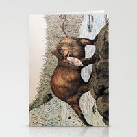 otter Stationery Cards featuring Otter by EVR.