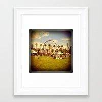 coachella Framed Art Prints featuring Coachella by Jason Chase