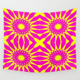 Flowers Pink & Yellow Wall Tapestry