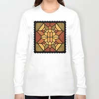 sacred geometry Long Sleeve T-shirts featuring Sacred geometry - Voronoi by Enrique Valles
